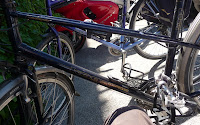 one gorgeous mixte and a lovely older model koga miyata make a beautiful pair