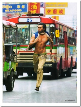 Shirtless Ranbir Kapoor