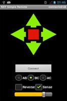 Screenshot of NXT Simple Remote
