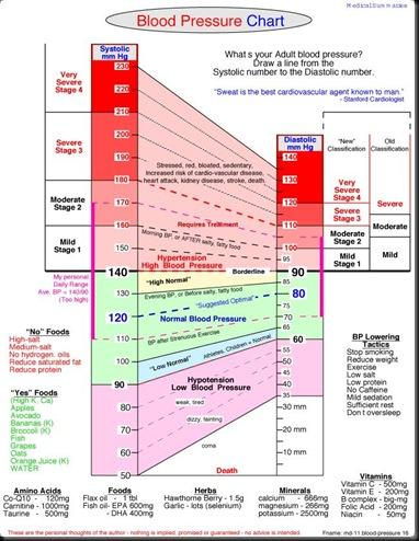 blood pressure chart & log. how to chart blood pressure.