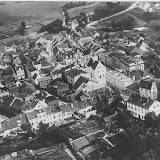 Luftaufnahme der Stadt von 1930 von Süd nach Nord