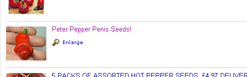 Peter Pepper Penis Seeds