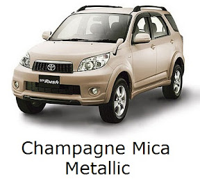 rush: new, toyota, facelift, warna, color, champagne mica metallic