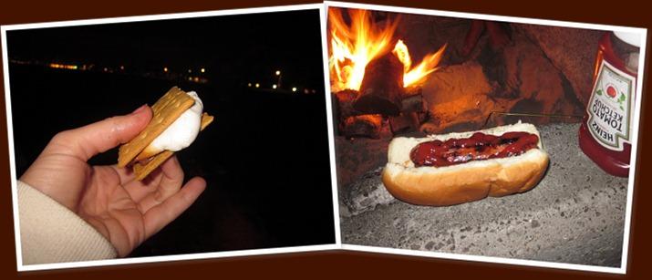 View bonfire food