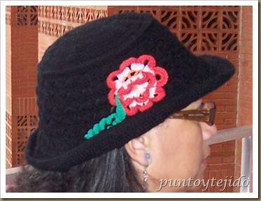 Negro y Gris con sombrero tejido 001