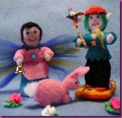 PETER Y EVA CON CONEJA