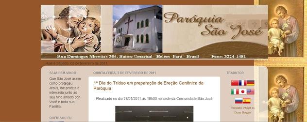 Blog Paróquia São José