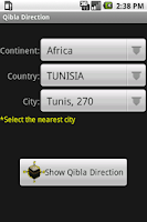 Screenshot of Qibla Direction