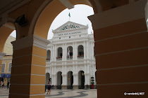 Macau senado (senate) square seen from under one of the many arches