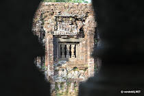 View on a temple at My Son from within another temple