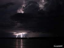 lightning over the Mekong River in Kratie, Cambodia