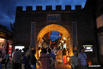 The south gate in Lijiang at night