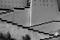 Stairs leading up to the Potala Palace in Lhasa, Tibet