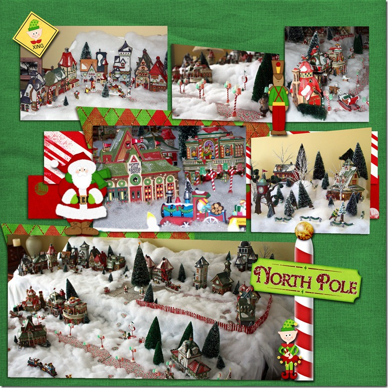 north pole village copy