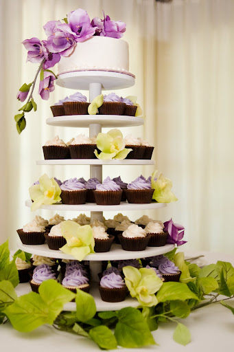 Summer Wedding Cupcake Tower