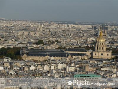 Domul invalizilor vazut din Turnul Eiffel