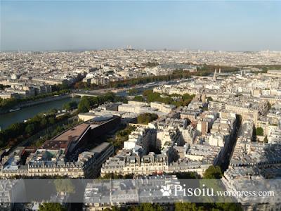 Vedere panoramica de la etajul 2 din Turnul Eiffel
