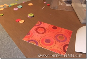5. Cut O'So to fit patterned cardstock