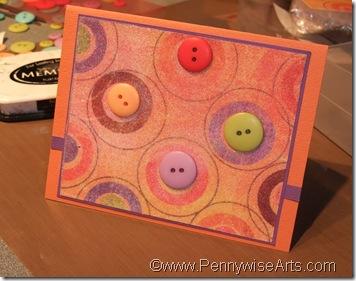 8. Adhere beaded piece to card