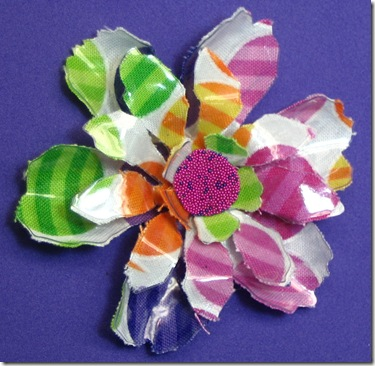Fabric and Plastic Flower