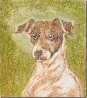 1985 dog fine art