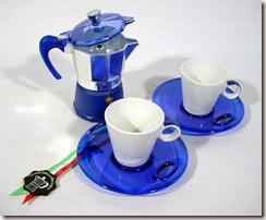 Cafeteira Italiana 2 Café   2 Xícaras c pires R$ 99,90 emule.com.br