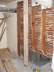 The support beam in the laundry room