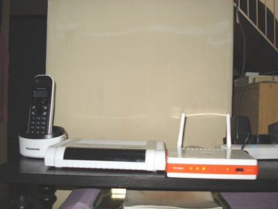 DECT phone, broadband termination unit, residential gateway
