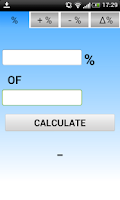 Screenshot of Percentage Calculator %