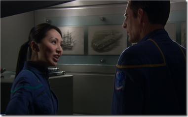 Capitão Archer  e Hoshi - Enterprise