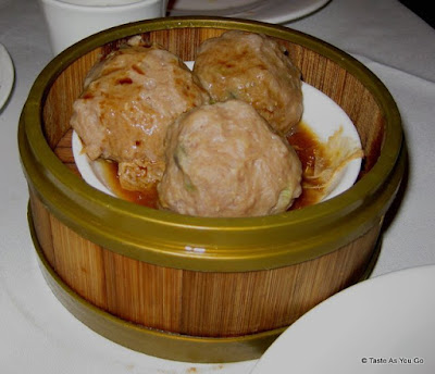 Steamed Pork Meatballs at Jing Fong Restaurant - Photo by Taste As You Go