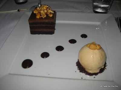 Chocolate-Caramel-Cake-Chocolate-Mousse-Cracker-Jacks-Peanut-Butter-Ice-Cream-Fishtail-by-David-Burke-New-York-NY-tasteasyougo.com