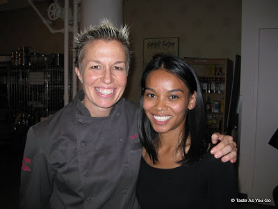 With Chef Elizabeth Falkner at ICE - Photo by Taste As You Go