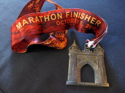 Finishers Medal from the 2010 ING Hartford Marathon - Photo by Taste As You Go