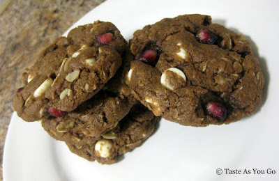 Pomegranate Double Chocolate Chip Cookies - Photo by Michelle Judd of Taste As You Go
