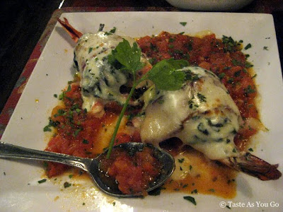 Stuffed Shrimp Portofino at The Waterfront Crabhouse in Long Island City, NY - Photo by Taste As You Go