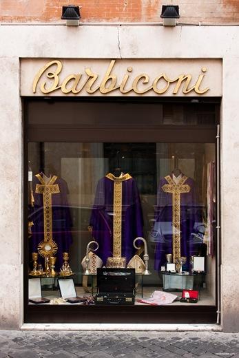 Schaufensterauslage Barbiconi, Rom