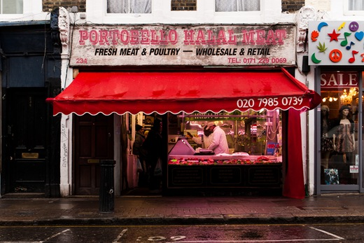 London, Portobello Road, Portobello Halal Meat