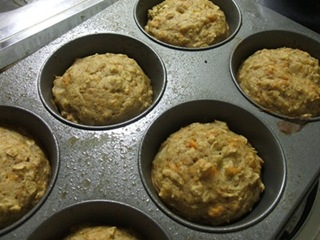 carrot apricot muffins