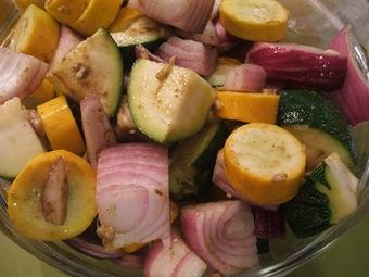 squash n onion tossed