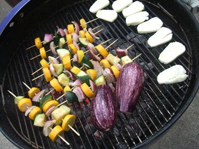 grill w eggplant