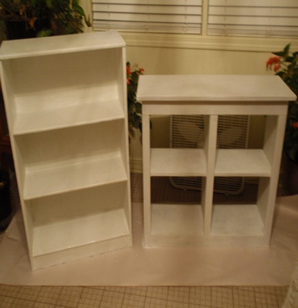 primed shelves