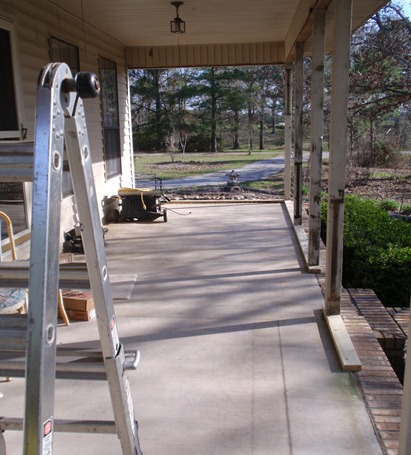 start of porch 1