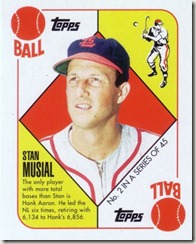 2010 Musial Blue Back Mini