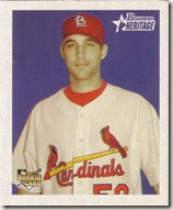 2006 Topps Heritage Mini Wainwright Rookie