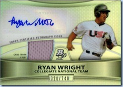 2010 Bowman DPP Wright Auto 320 of 740