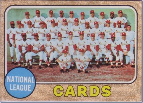 1968 Topps Cardinals