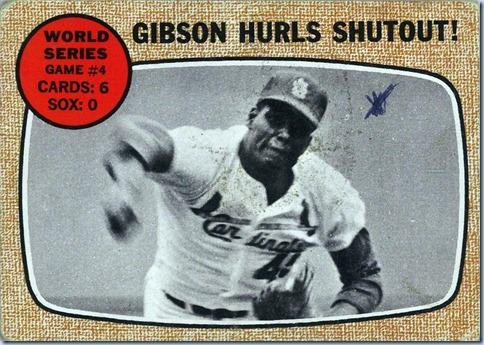 1968 Topps Gibson WS