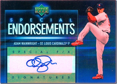 2006 Upper Deck Special Wainwright Auto
