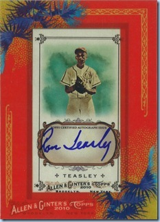 2010 Allen Ginter Teasely Auto